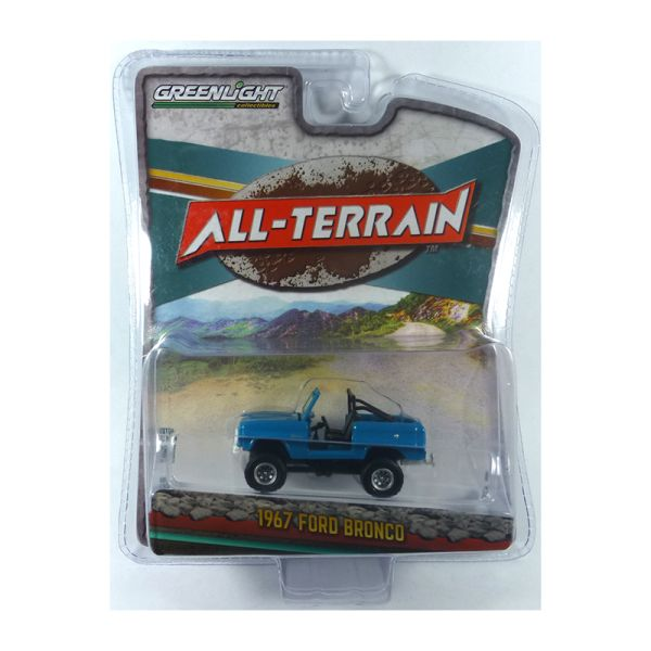 Greenlight 35130-A Ford Bronco hellblau 1967 - All Terrain Maßstab 1:64