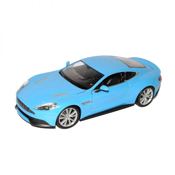 Welly 24046 Aston Martin Vanquish hellblau Maßstab 1:24 Modellauto