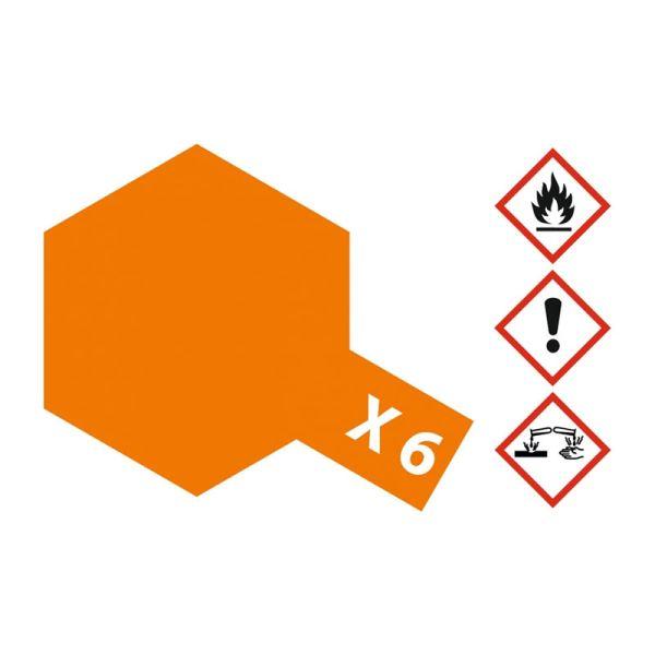 Tamiya 81006 Farbe X-6 Orange glänzend 23ml