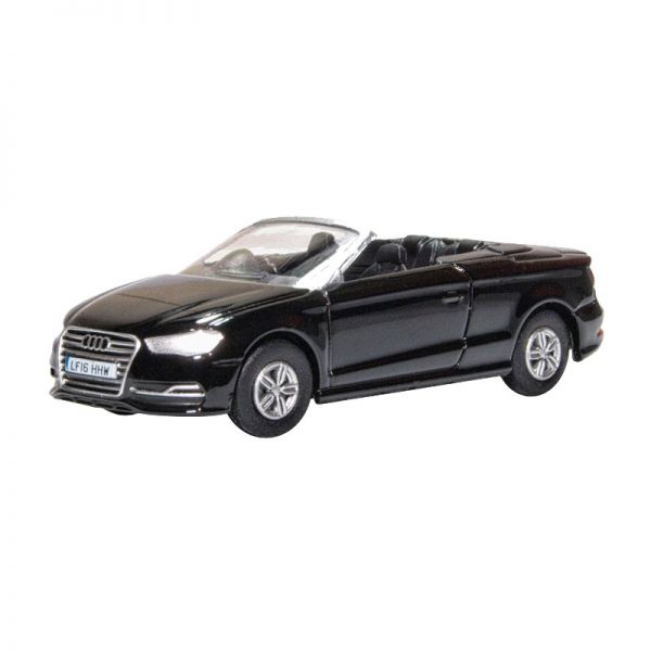 Oxford 76S3002 Audi S3 Cabriolet schwarz Maßstab 1:76
