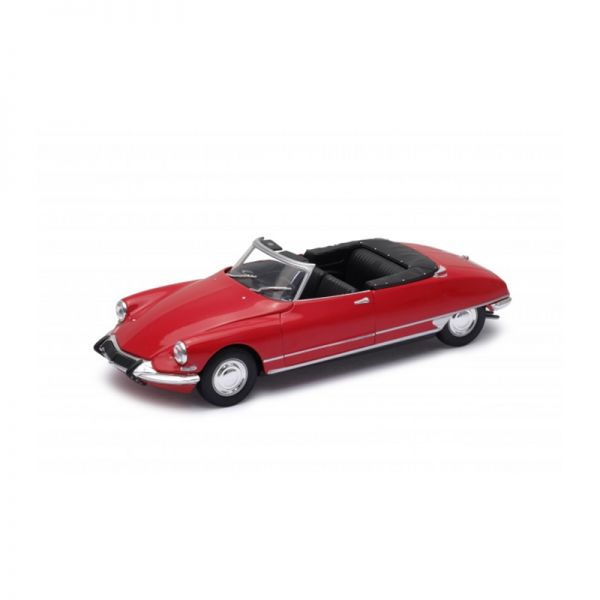 Welly 22506 Citroen DS 19 Cabriolet offen rot Maßstab 1:24 Modellauto