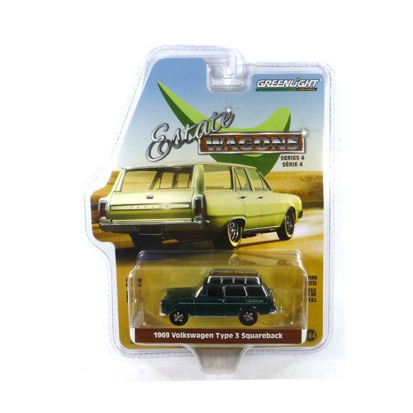 Greenlight 29970-B VW Type 3 Squareback dunkelgrün - Estate Wagon Maßstab 1:64