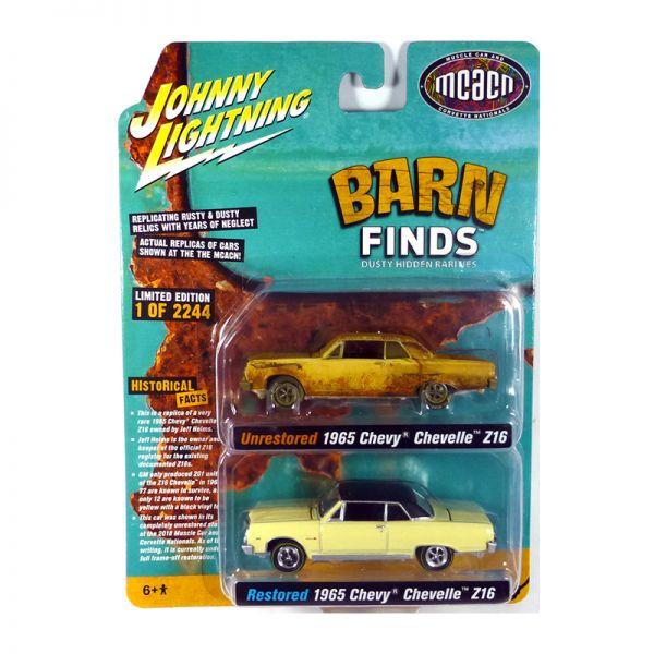 Johnny Lightning PK009-B 2er Pack Chevrolet Chevelle Z16 restored & unrestored Maßstab 1:64