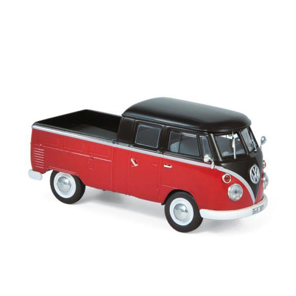 Norev 840218 VW T1 Doppelkabine rot/schwarz Maßstab 1:43