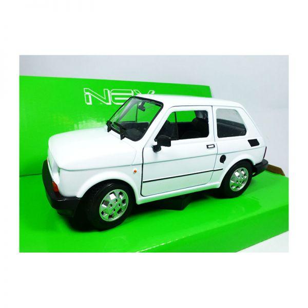 Welly 24066 Fiat 126 weiss Maßstab 1:24 Modellauto