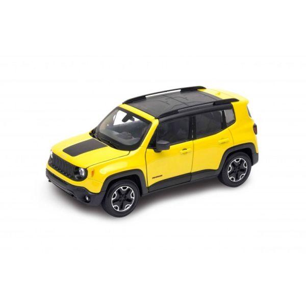Welly 24071 Jeep Renegade Trailhawk gelb Maßstab 1:24 Modellauto