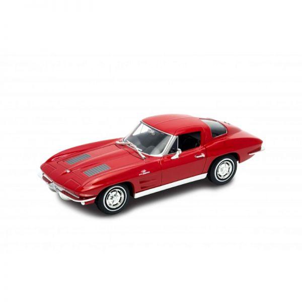 Welly 24073 Chevrolet Corvette Sting Ray (C2) rot Maßstab 1:24 Modellauto