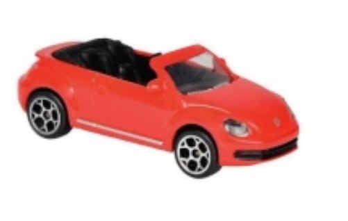 Majorette 212052790 VW Beetle Cabrio rot Modellauto Maßstab 1:64