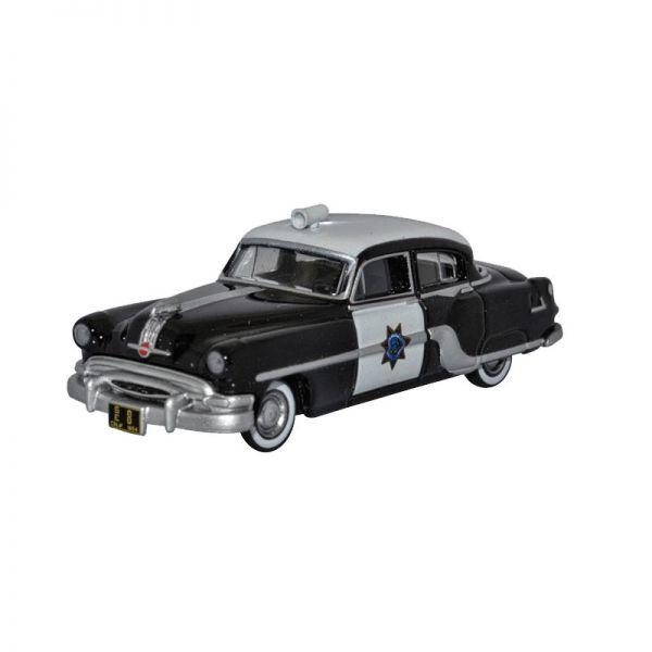 """Oxford 87PC54003 Pontiac Chieftain """"California Highway Patrol"""" schwarz/weiss Maßstab 1:87"""