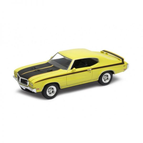 Welly 22433 Buick GSX gelb/schwarz Maßstab 1:24 Modellauto