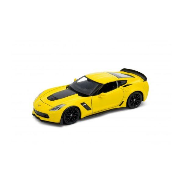Welly 24085 Chevrolet Corvette Z06 gelb Maßstab 1:24 Modellauto