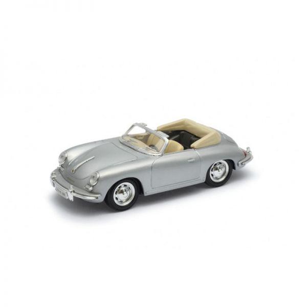 Welly 29390 Porsche 356B Cabriolet silber Maßstab 1:24 Modellauto