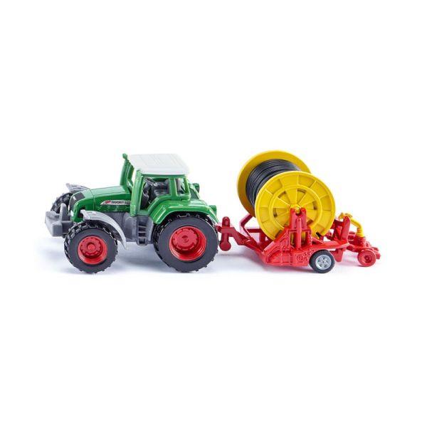 Siku 1677 Traktor mit Bewässerungshaspel grün/ rot (Blister)