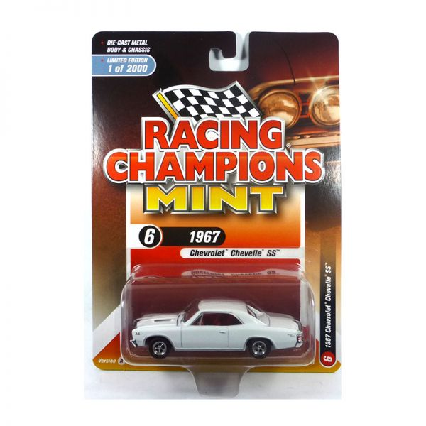Racing Champions Mint RC009-6A Chevrolet Chevelle SS weiss Maßstab 1:64