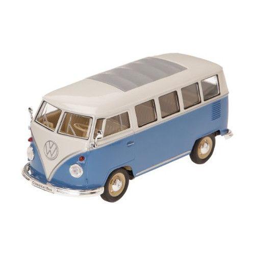 Welly 22095 VW T1 Bus 1963 blau/weiß Maßstab 1:24 Modellauto