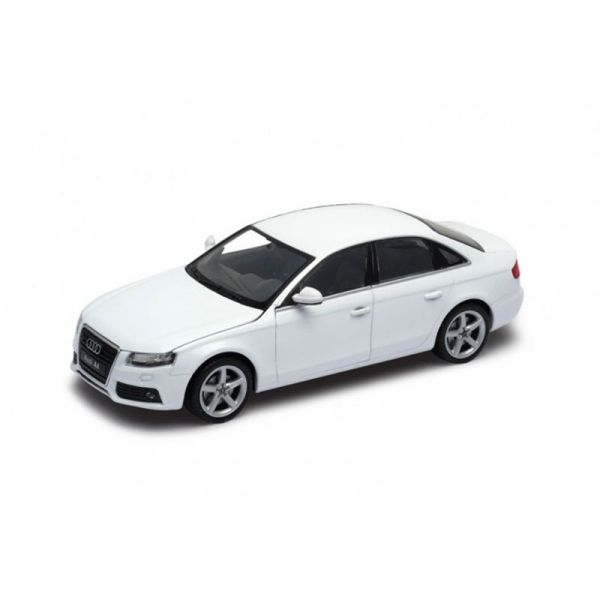 Welly 22512 Audi A4 Limousine weiss Maßstab 1:24 Modellauto