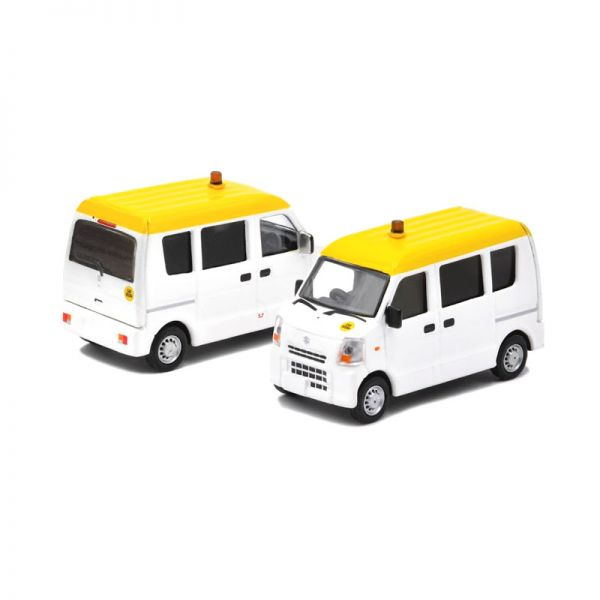 "Era Car 42 Suzuki Every ""Hong Kong Airport"" Mini Van weiss/gelb Maßstab 1:64"