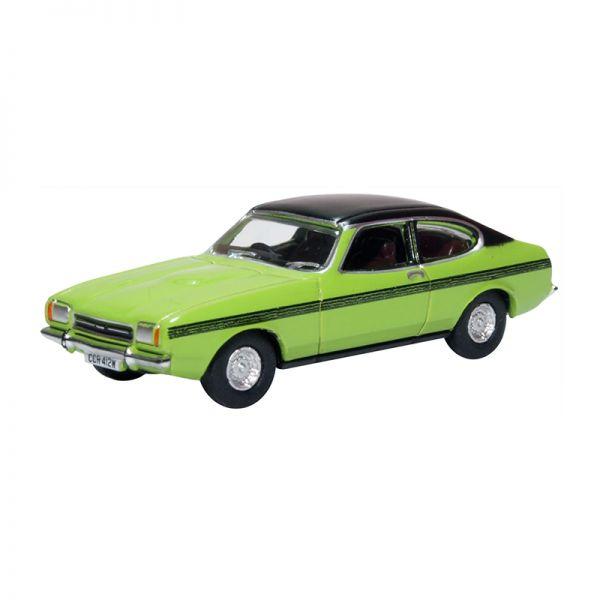 Oxford 76CPR001 Ford Capri MKII hellgrün/matt-schwarz Maßstab 1:76