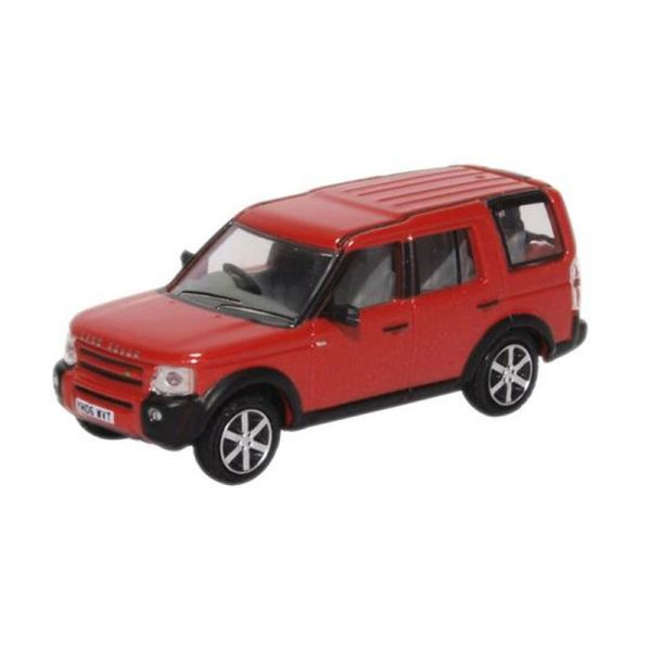 Oxford 222199 Land Rover Discovery 3 rot metallic Maßstab 1:76