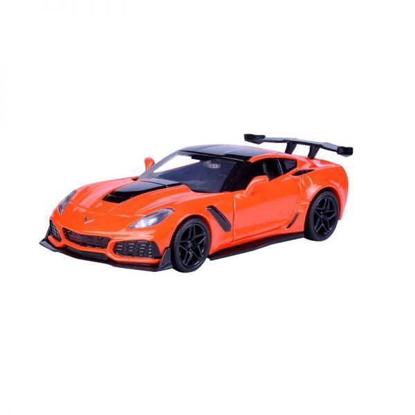 Motormax 79356 Chevrolet Corvette ZR1 orange/schwarz Maßstab 1:24