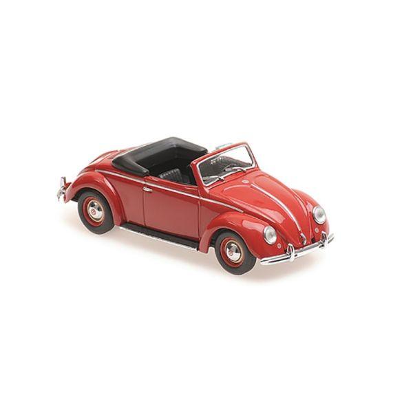 Maxichamps 940052131 VW Hebmueller Cabrio rot Maßstab 1:43