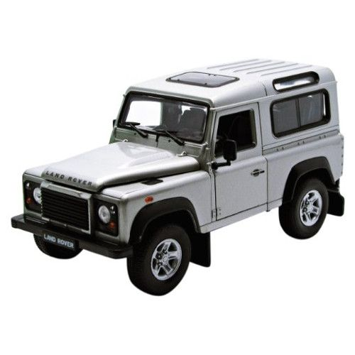 Welly 22498 Land Rover Defender silber Maßstab 1:24 Modellauto