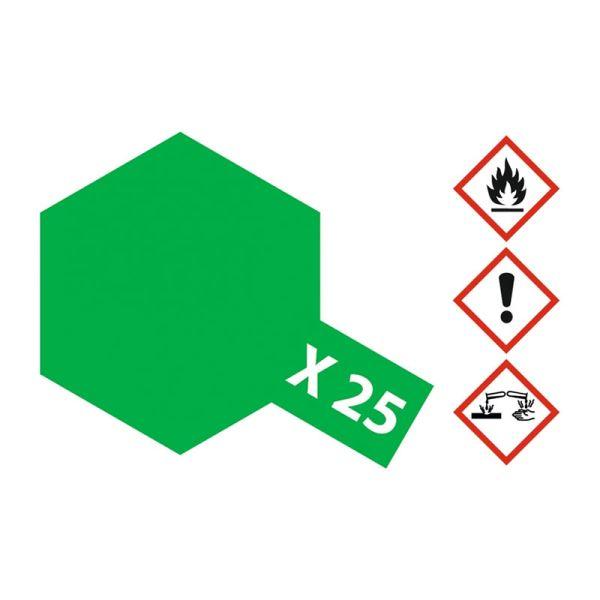 Tamiya 81025 Farbe X-25 Klar-Grün glänzend 23ml