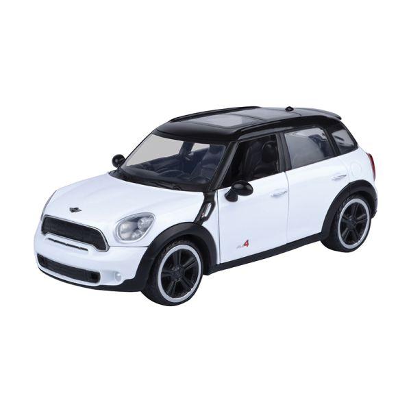 Motormax 73353 Mini Cooper S Countryman schwarz/weiss Maßstab 1:24