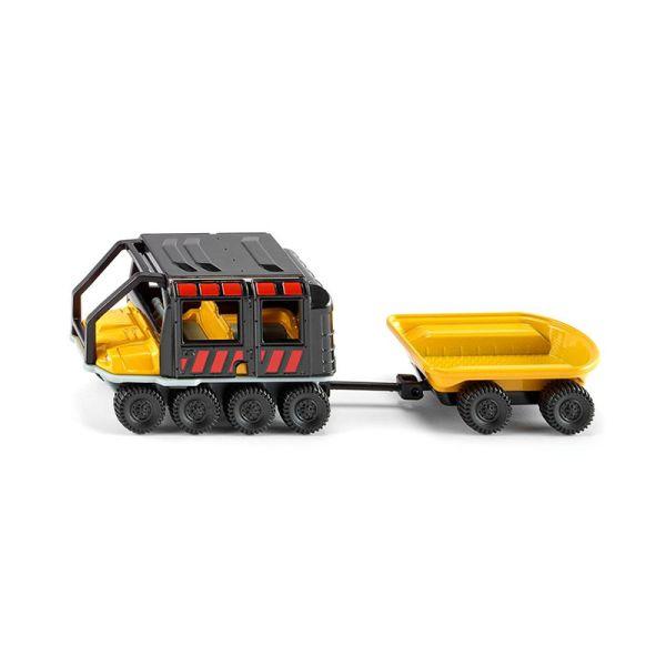 Siku 1679 Argo Avenger mit Anhänger gelb/schwarz (Blister)