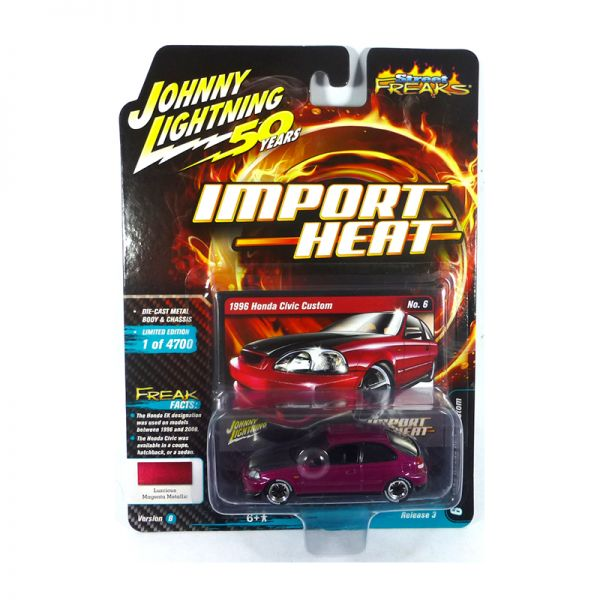 Johnny Lightning JLSF014-B6 Honda Civic Custom lila - Import Heat Maßstab 1:64