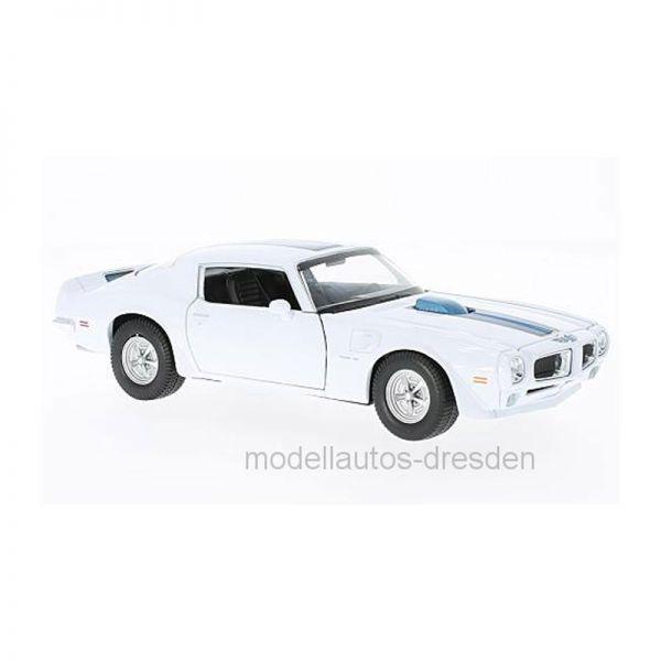 Welly 24075 Pontiac Firebird Trans Am weiß Maßstab 1:24 Modellauto