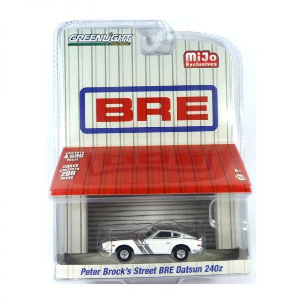 Greenlight 51157 Peter Brock's Street BRE Datsun 240Z silber/weiss - BRE Maßstab 1:64