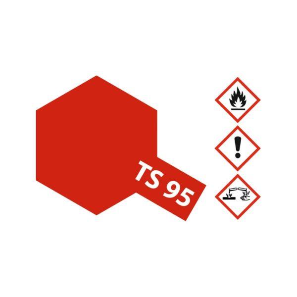 Tamiya 85095 Farbe TS-95 Pure Metallic Rot glänzend 100ml Spray