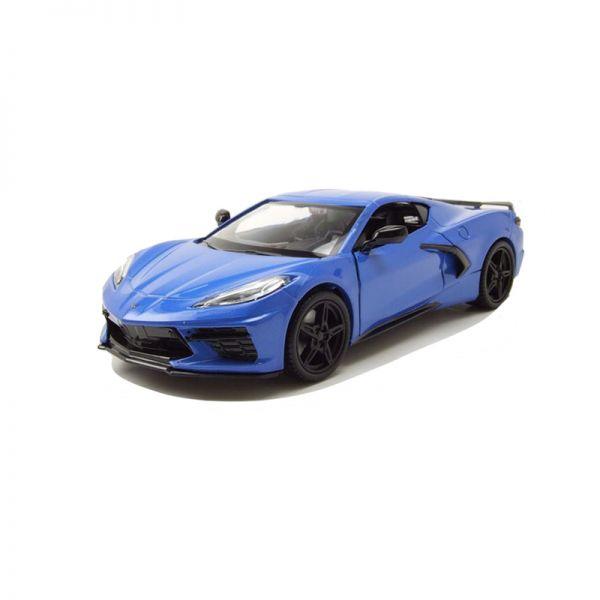 Motormax 79360 Chevrolet Corvette C8 Stingray blau metallic Maßstab 1:24