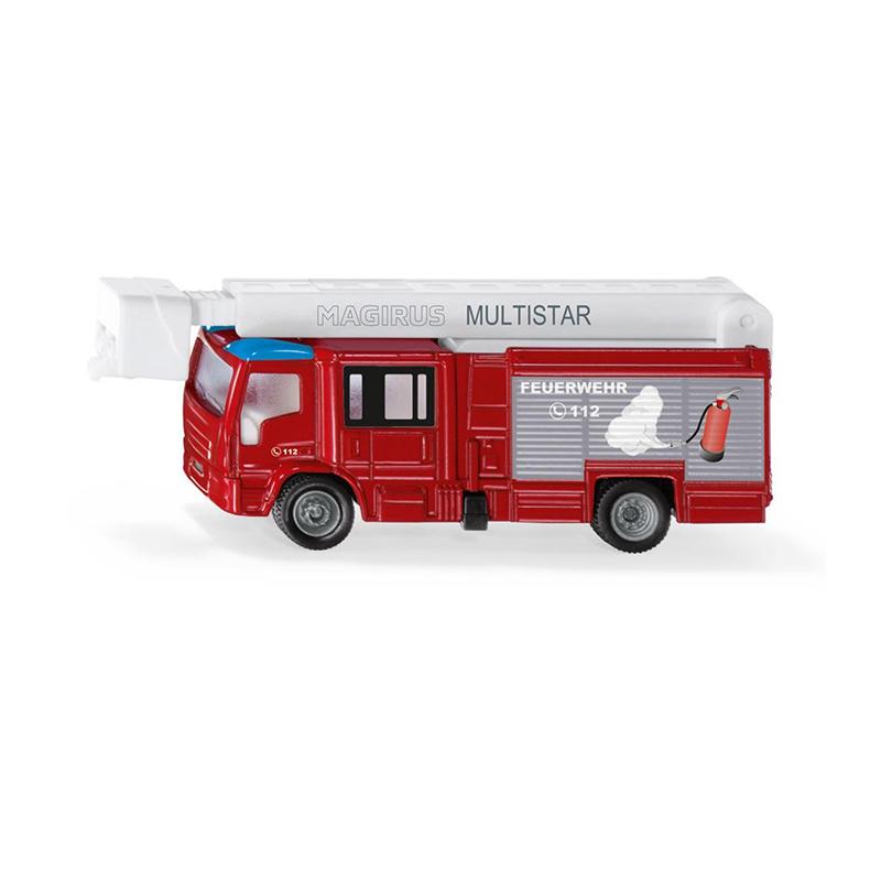 Bburago 31400 Abschleppwagen rot mit Fiat 500 Maßstab 1:43 NEU!°