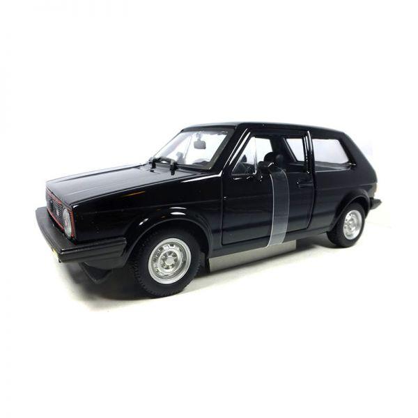 Bburago 21089 VW Golf MK1 GTI schwarz Maßstab 1:24 Modellauto