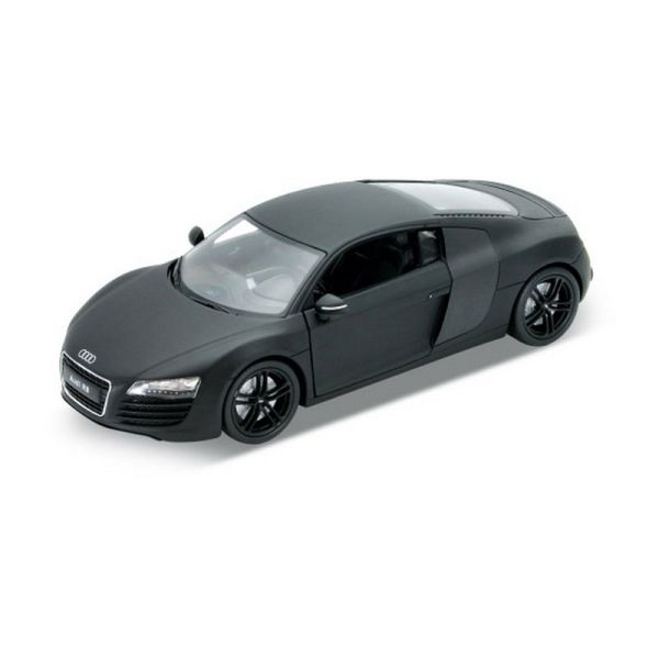 Welly 22493 Audi R8 V10 matt schwarz Maßstab 1:24 Modellauto