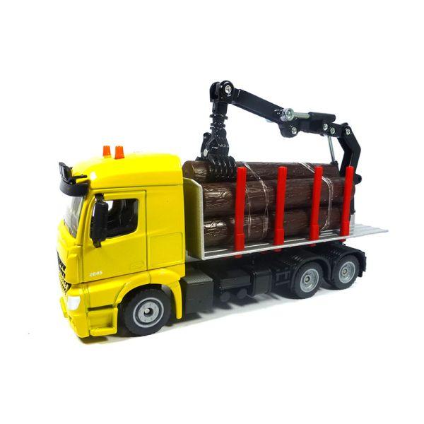Siku 2714 Mercedes Arocs Holztransporter gelb Maßstab 1:50