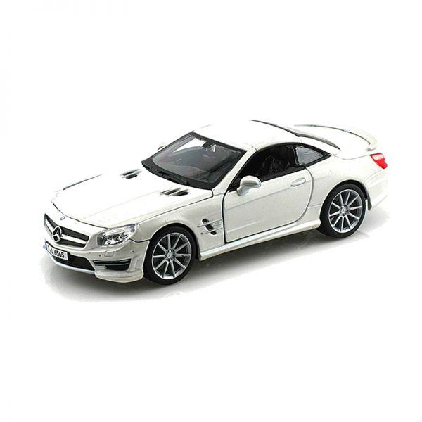 Bburago 21066 Mercedes Benz SL 65 AMG Hardtop weissmetallic Maßstab 1:24