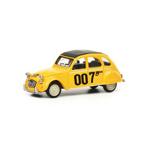 "Schuco 452016600 Citroën 2CV ""007"" gelb Maßstab 1:64"