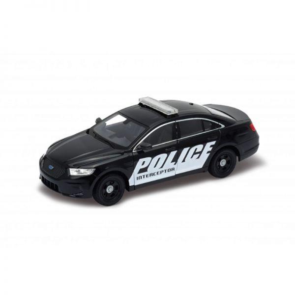 Welly 24045 Ford Police Interceptor schwarz/weiss Maßstab 1:24 Modellauto