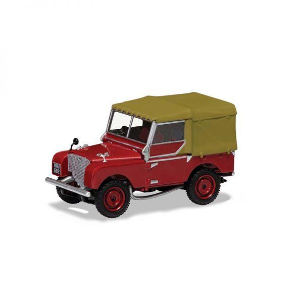 "Corgi VA11118 Land Rover Series 1 80"" dunkelrot Maßstab 1:43"