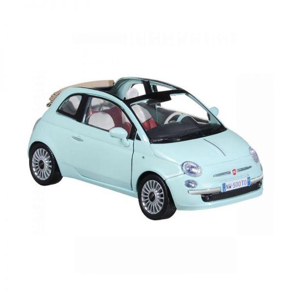 Motormax 73374 Fiat 500 Cabriolet mintgrün Maßstab 1:24