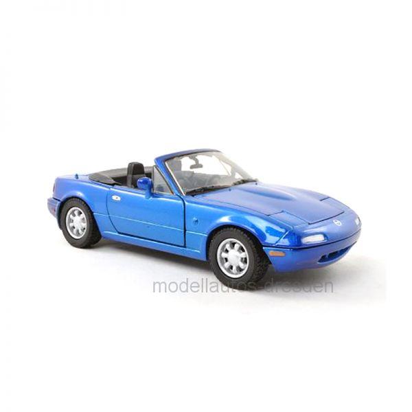 Motormax 73262 Mazda MX-5 Miata MkI blau metallic Maßstab 1:24
