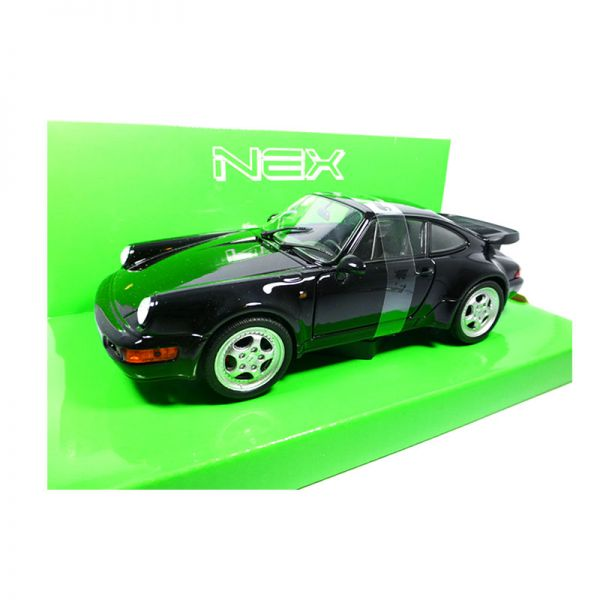Welly 24023 Porsche 911 (964) Turbo 3.0 schwarz 1974 Maßstab 1:24 Modellauto