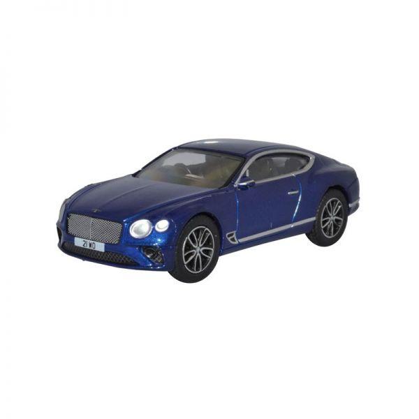 Oxford 76BCGT001 Bentley Continental GT blau Maßstab 1:76