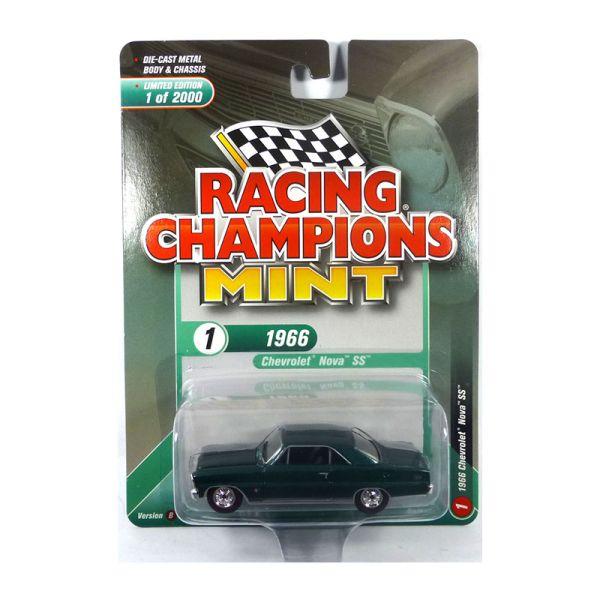 Racing Champions Mint RC009-1B Chevrolet Nova SS grün metallic Maßstab 1:64