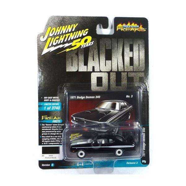 Johnny Lightning JLSF014-B3 Dodge Demon 340 schwarz/weiss - Blacked Out Maßstab 1:64