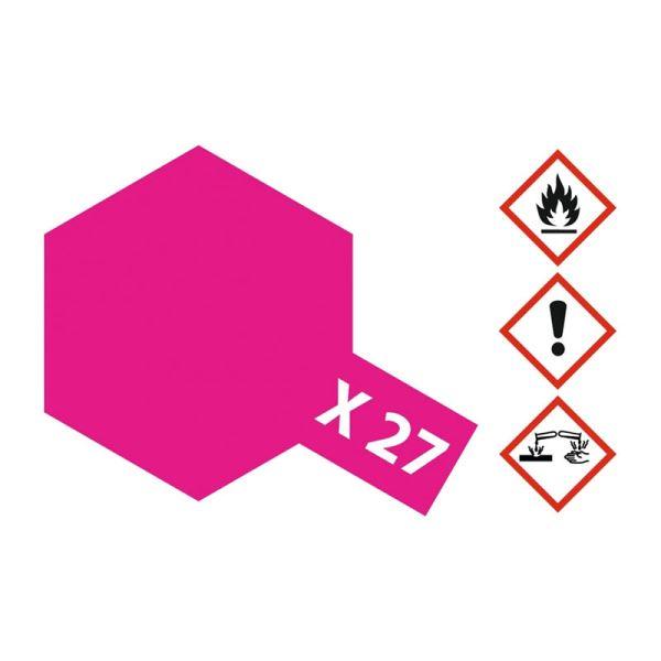 Tamiya 81027 Farbe X-27 Klar-Rot glänzend 23ml