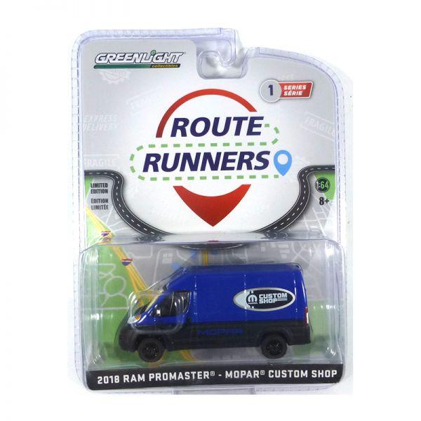 "Greenlight 53010-E RAM Promaster ""Mopar"" blau - Route Runners Maßstab 1:64"
